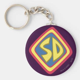 "Scooby Doo ""Sd "" 1 Standard Runder Schlüsselanhänger"
