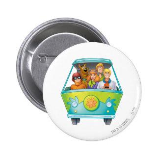 Scooby Doo Spritzpistolen-Pose 25 Runder Button 5,7 Cm