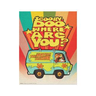 "Scooby-Doo | ""wo sind Sie?"" Retro Cartoon Van Leinwanddruck"