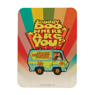 "Scooby-Doo | ""wo sind Sie?"" Retro Cartoon Van Magnet"