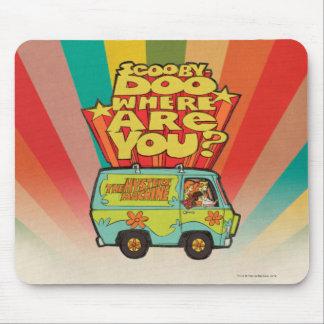 "Scooby-Doo | ""wo sind Sie?"" Retro Cartoon Van Mousepad"