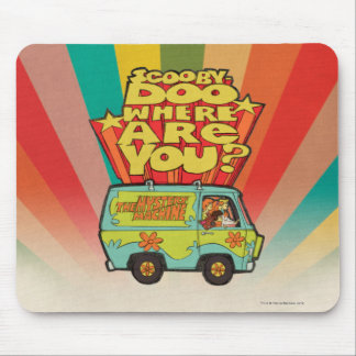 "Scooby-Doo | ""wo sind Sie?"" Retro Cartoon Van Mousepads"