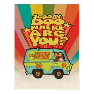 "Scooby-Doo | ""wo sind Sie?"" Retro Cartoon Van Postkarte"