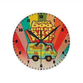 "Scooby-Doo   ""wo sind Sie?"" Retro Cartoon Van Runde Wanduhr"