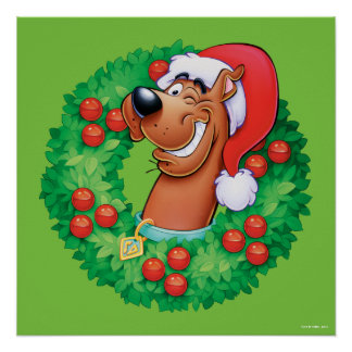 Scooby im Kranz Poster