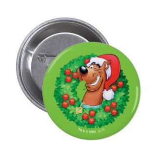 Scooby im Kranz Runder Button 5,7 Cm