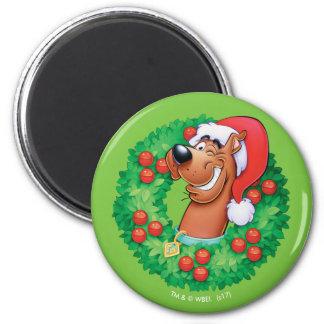 Scooby im Kranz Runder Magnet 5,1 Cm