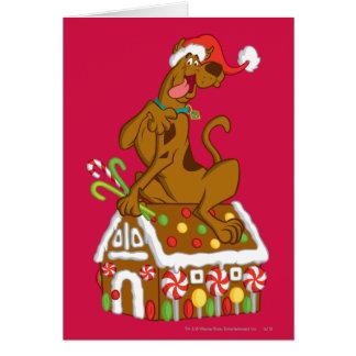 Scooby und Lebkuchen-Haus Grußkarte