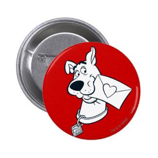 Scooby Valentinstag 02 Runder Button 5,1 Cm