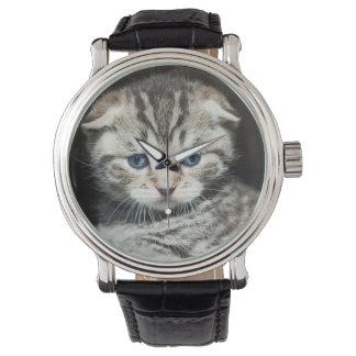 Scotish Falten-Kätzchen Armbanduhr