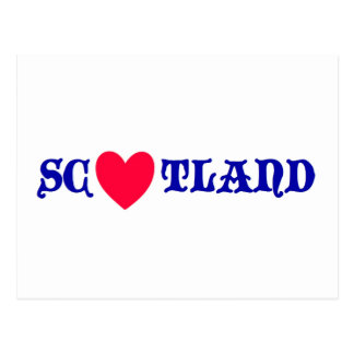 Scotland love postkarte