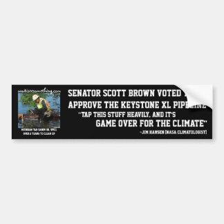 Scott Brown: Trapezfehler-XL-Rohrleitung Autoaufkleber
