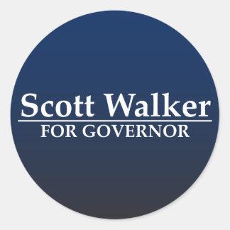 Scott-Wanderer für Gouverneur Runder Aufkleber
