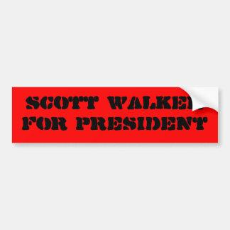 Scott-Wanderer für Präsidenten-Autoaufkleber