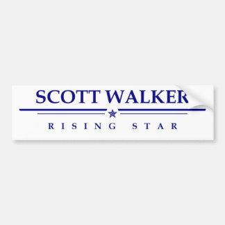 Scott-Wanderer: Steigender Stern Autoaufkleber