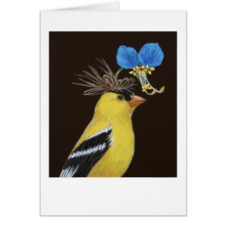 Scottie die Goldfinchgrußkarte Grußkarte