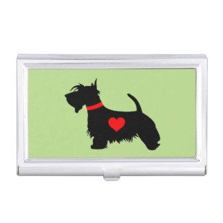 Scottie-HundeVisitenkarte-Halter Visitenkarten Dose