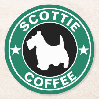 SCOTTIE Kaffee Runder Pappuntersetzer