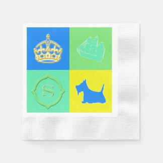 Scottie-Nr. 15- Farbspaß Serviette