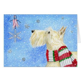 Scottie-Weihnachtsmagie Grußkarte