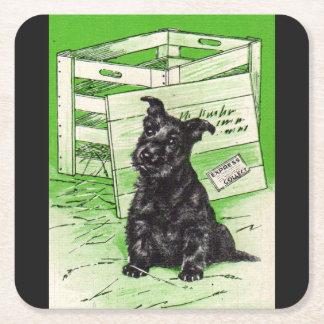 Scottiehund durch spezielle Lieferung Rechteckiger Pappuntersetzer