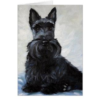 ScottieScottish Terrier - blauer Junge Karte