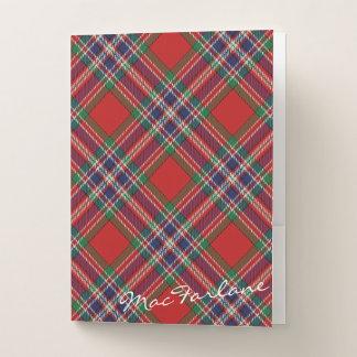 Scottish bewirkt Clan MacFarlane Tartan Bewerbungsmappe