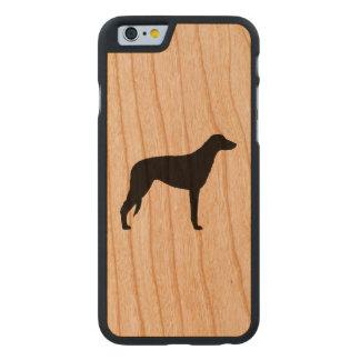 Scottish Deerhound Silhouette Carved® iPhone 6 Hülle Kirsche