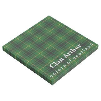 Scottish färbt Clan-ArthurTartan Galerieleinwand