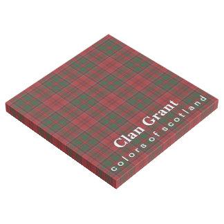 Scottish färbt Clan-GrantTartan Galerieleinwand
