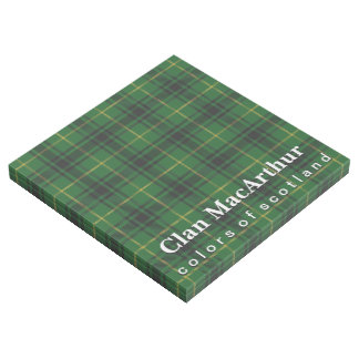 Scottish färbt Clan MacArthur Tartan Galerieleinwand