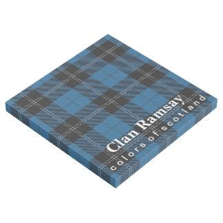 Scottish färbt Clan Ramsay blauer und schwarzer Galerieleinwand