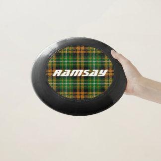 Scottish Funtime Clan Ramsay orange Tartan kariert Wham-O Frisbee