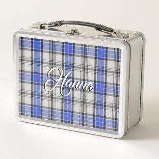 Scottish isst! Clan Hannay Tartan kariert Metall Lunch Box