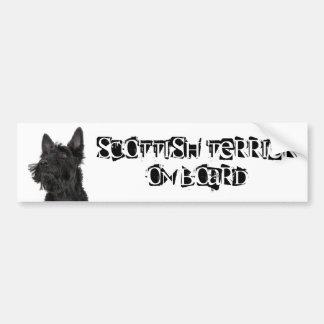 Scottish Terrier an Bord Autoaufkleber