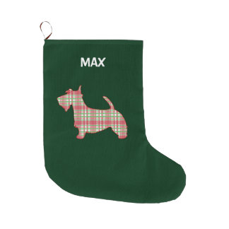 Scottish Terrier an den Feiertagen Großer Weihnachtsstrumpf