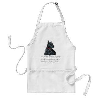 Scottish-Terrier-Andenken - MÄNNLICHER Hund Schürze