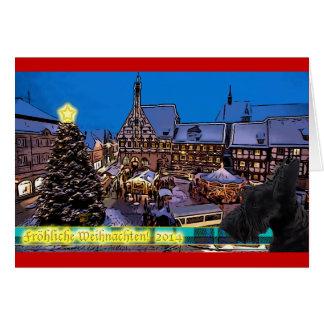 Scottish-Terrier hund Weihnachtskarte Grußkarte
