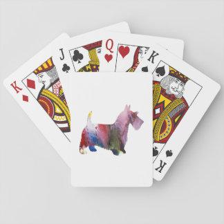 Scottish-Terrier-Kunst Spielkarten
