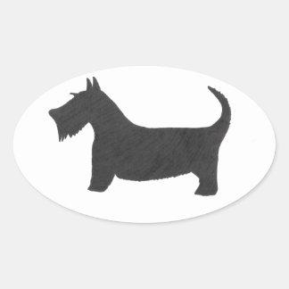 Scottish Terrier Ovaler Aufkleber