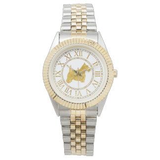 Scottish Terrier personifizieren Uhr