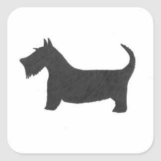 Scottish Terrier Quadratischer Aufkleber