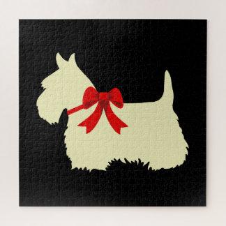 Scottish-Terrier schwarzes sihouette heart/676 Puzzle