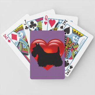 Scottish Terrier schwarzes/weißes rotes Bicycle Spielkarten