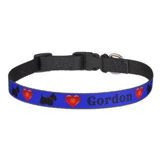 Scottish Terrier, Scottie, Blau, rotes Herz Haustierhalsband