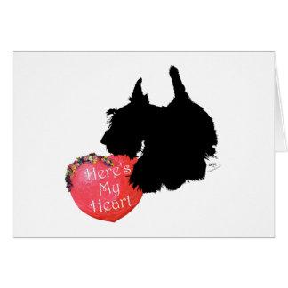 Scottish-Terrier-Valentinsgruß Karte