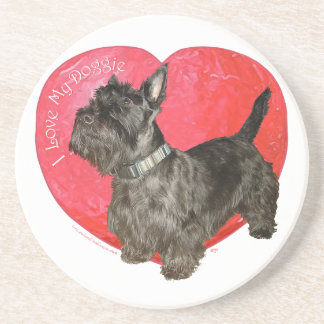 Scottish-Terrier-Valentinsgruß Untersetzer
