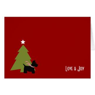 Scottish-Terrier-Weihnachtsfeiertag Karte