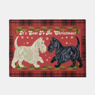 Scottish-Terrier-Weihnachtsmatte Türmatte