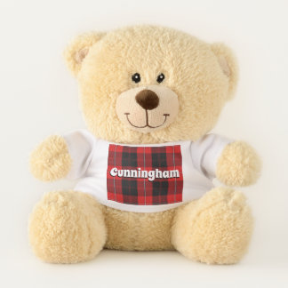Scottish umarmt karierten Clan Cunningham Tartan Teddybär
